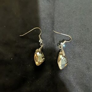 Champagne sparkly earrings